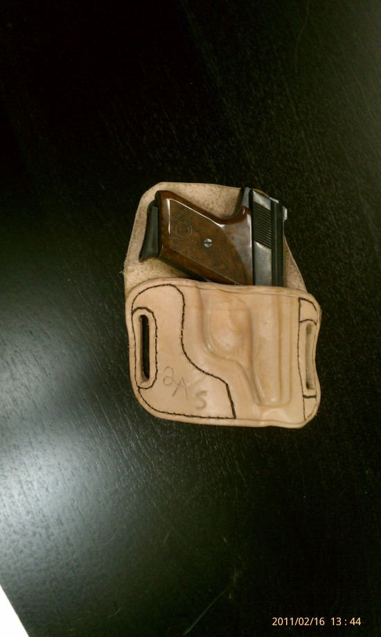 small caliber pistol waist or ankle